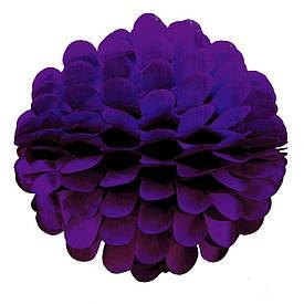 Паперовий шар квітка 20см (фіолетовий 0021)
