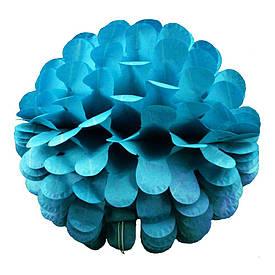 Паперовий шар квітка 30см (лазурний 0003)