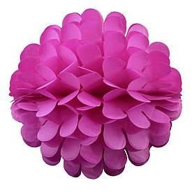 Паперовий шар квітка 30см (малиновий 0009)