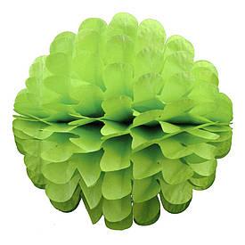Паперовий шар квітка 30см (салатовий 0013)