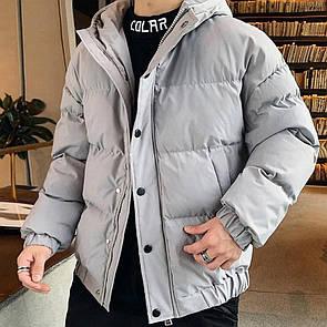 Куртка зимова Оверсайз сіра