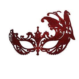 Венеціанська маска Баттерфляй (червона)