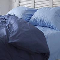 Комплект постельного белья Хлопковые Традиции Полуторный 155x215 Сине-голубой PF049полуторный, КОД: 740624