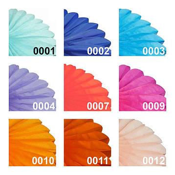 Бумажная гирлянда веерный круг (тишью) 25см (фиолетовый 0021), фото 2