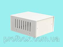 Корпус металевий MB-1 (Ш100 Г125 В60) білий, RAL9016(White textured)