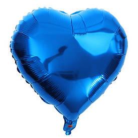 Кулька надувна (45см) Сердечко синє