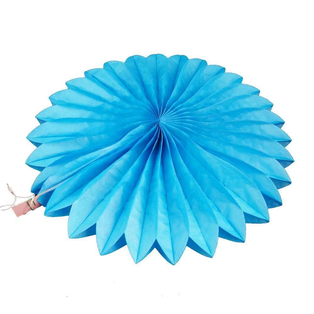 Бумажная гирлянда веерный круг (тишью) 30см (лазурный 0003)