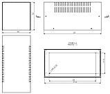 Корпус металевий MB-12 (Ш160 Г325 В160) білий, RAL9016(White textured), фото 3