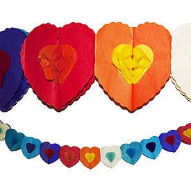 Гірлянда 3D Сердечко з сотами