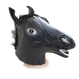Латексна Маска Кінь (чорна)