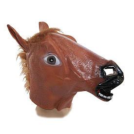 Латексна Маска Кінь (коричнева)