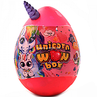 Игровой набор «Unicorn WOW Box» Яйцо единорога 25х35 см, розовое, украинский язык (UWB-01-01U)