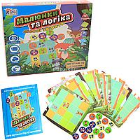 Настольная игра Fun game «Малюнки та логіка: лісові звірята» (украинский язык), UKB-B0032