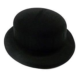 Капелюх Казанок флок (чорна)