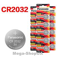 Батарейка литиевая Panasonic / CR2032 / 3V. Батарейка панасоник Lithium для часов 1 штука