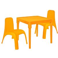 Детский стол для творчества + 2 стула Оранжевый 18-100-23, КОД: 1130276