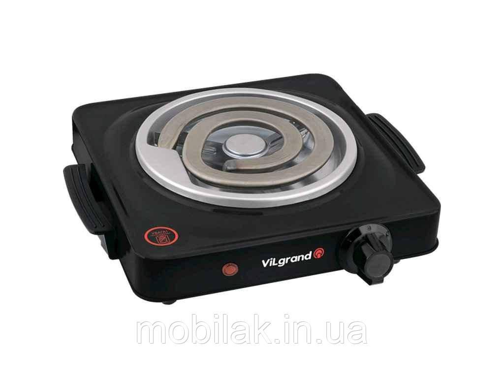 Плитка електрична (1 конфорка 1000Вт, широкий тен) VHP141D_black ТМ VILGRAND