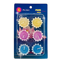 Свечи плавающие Цветок (упаковка 6шт)