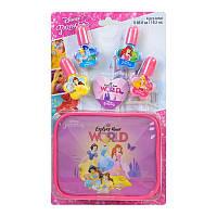 Детский Набор лаков для ногтей Markwins Disney Princess с футляром 1599024E, КОД: 2427337