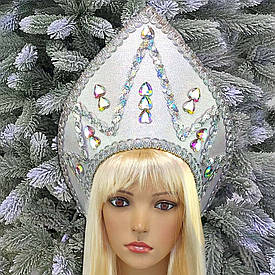Кокошник Снігова королева срібло 10371