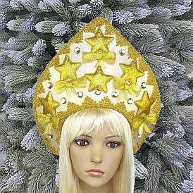Кокошник корона Святкова феєрія золото10375