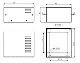 Корпус металевий MB-2 (Ш150 Г180 В90) білий, RAL9016(White textured), фото 3