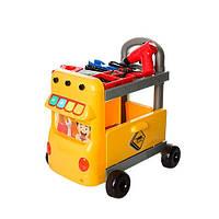 Набор инструментов игровой Kronos Toys W054 тележка-машина Желтый intW054, КОД: 977973