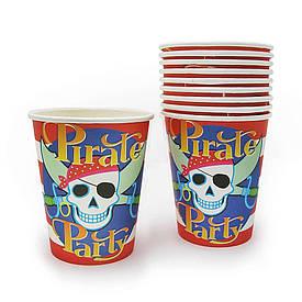 Паперові стаканчики Пірати (уп. 10шт)