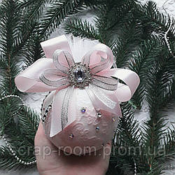 Новогодний шар, елочный шар, шар новогодний ручной работы, шар ручная работа 8 см, новый год 2021