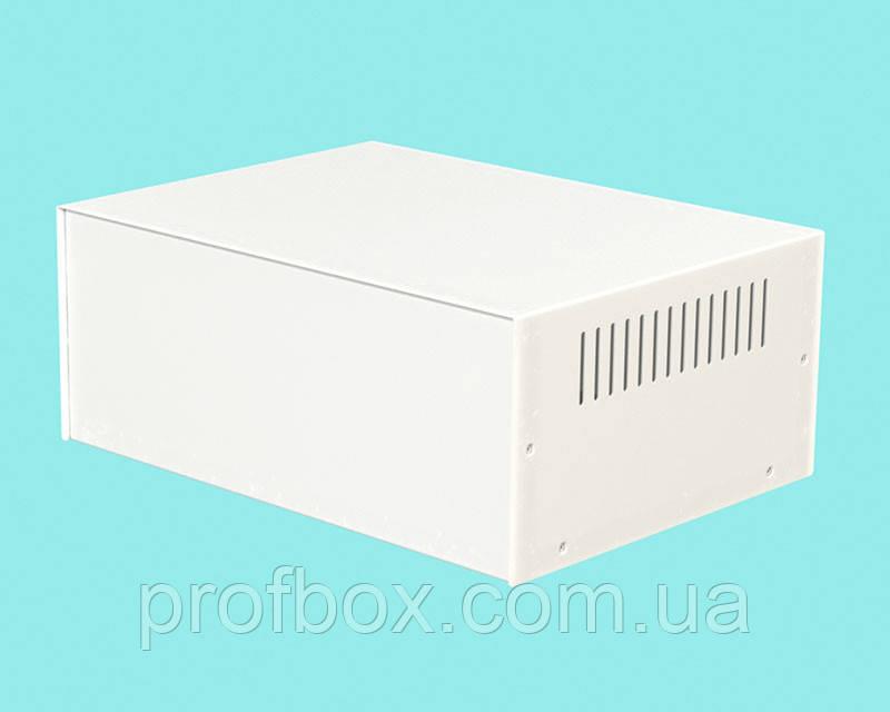 Корпус металевий MB-39 (Ш295 Г217 В120) білий, RAL9016(White textured)