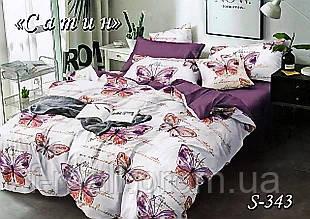 Комплект постельного белья Тет-А-Тет ( Украина ) Сатин полуторное (S-343)