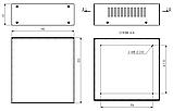Корпус металевий MB-5 (Ш190 Г200 В65) білий, RAL9016(White textured), фото 3