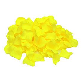 Лепестки роз (упаковка 120шт) желтые