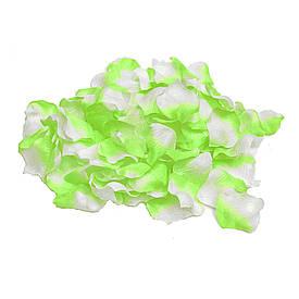 Пелюстки троянд (уп. 120шт) салатово-білі