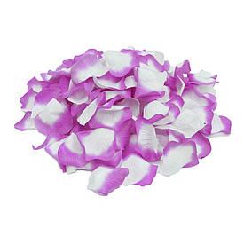 Пелюстки троянд (уп. 120шт) лілово-білі