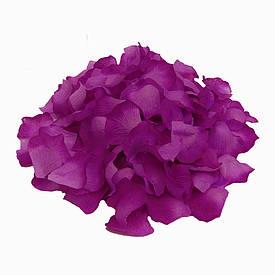 Лепестки роз (упаковка 120шт) баклажановые