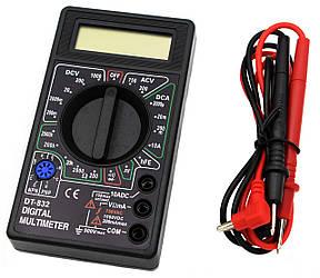 Мультиметр DT-832 (Тестер), типи вимірювань - DCV, АCV, DCA, АСА, Ом, Звукова продзвонювання.