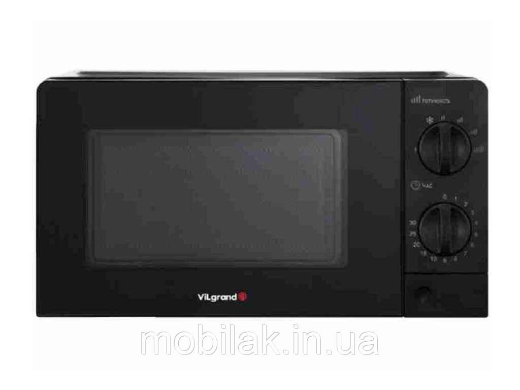 Мiкрохвильова пiч (20 л, 700 Вт, мех., чорна) VMW-7208-black ТМ VILGRAND