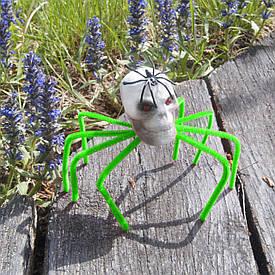 Декор Павук-череп (зелений)