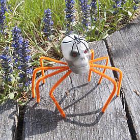Декор Павук-череп (помаранчевий)