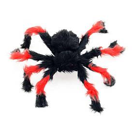 Павук із хутра 50см (чорний з червоним)