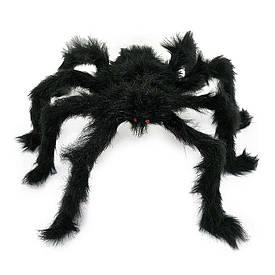 Павук із хутра 60см (чорний)