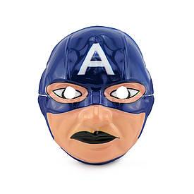 Маска Дитяча Капітан Америка (уп. 12шт) пластик