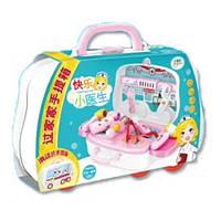 """Детский игровой набор в чемодане You Jaxin """"Счастливый доктор"""" Happy Doctor Pink (2_009728)"""