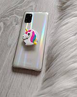 Попсокет Popsockets 3D держатель, подставка для телефона Единорог белый, фото 1