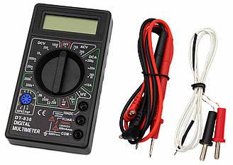 Мультиметр DT-838 (Тестер), типи вимірювань - DCV, АCV, DCA, АСА, Ом, Звукова продзвонювання, Температур
