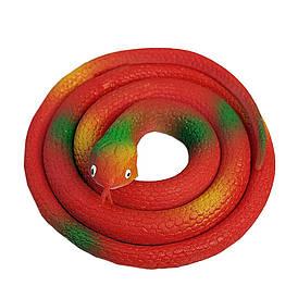 Резиновая змея 70см красная