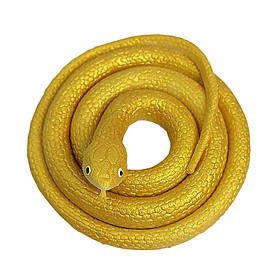 Резиновая змея 70см золотая