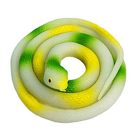 Резиновая змея 70см белая