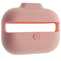 Чехол силиконовый Aare с ремешками для наушников AirPods Pro Светло-розовый 00007697, КОД: 1536405